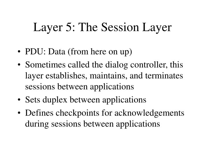 Layer 5: The Session Layer
