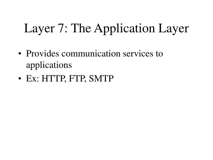 Layer 7: The Application Layer