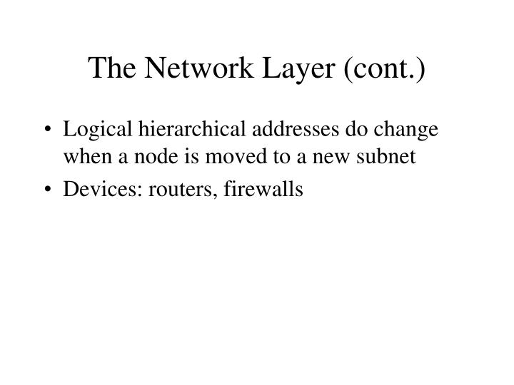 The Network Layer (cont.)