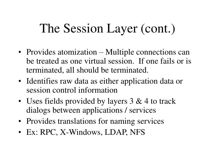 The Session Layer (cont.)