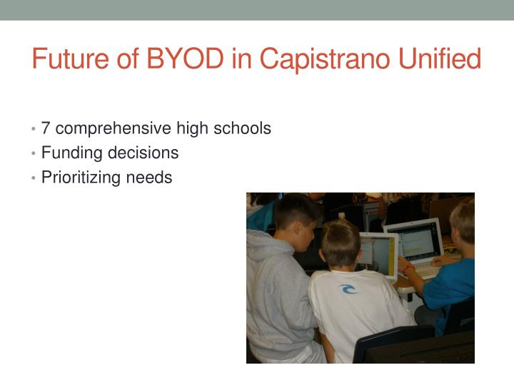 Future of BYOD in Capistrano Unified