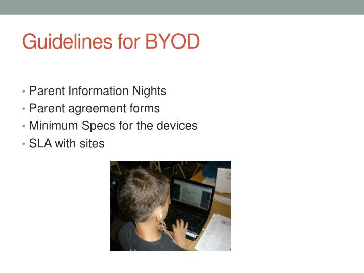 Guidelines for BYOD