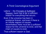 a third cosmological argument