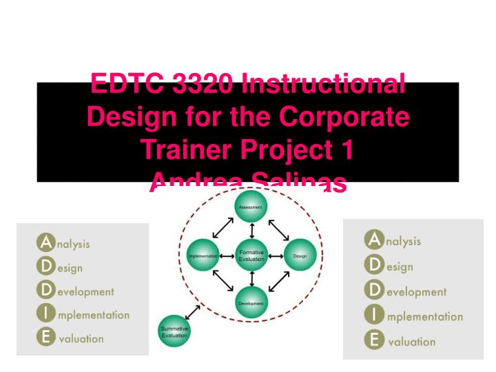 Edtc 3320 instructional design for the corporate trainer project 1 andrea salinas