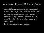 american forces battle in cuba