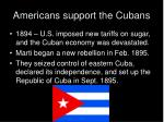 americans support the cubans