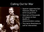 calling out for war1