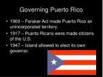 governing puerto rico