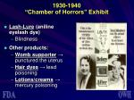 1930 1940 chamber of horrors exhibit