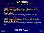 fda history importance of subgroup populations