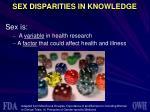 sex disparities in knowledge1