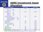 asrs investment asset allocation