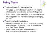 policy tools