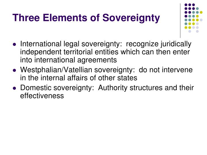 three elements of sovereignty n.