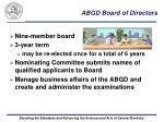abgd board of directors