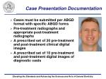 case presentation documentation