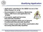 qualifying application