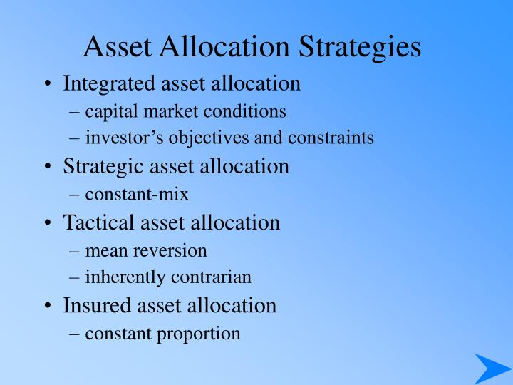 Asset Allocation Strategies