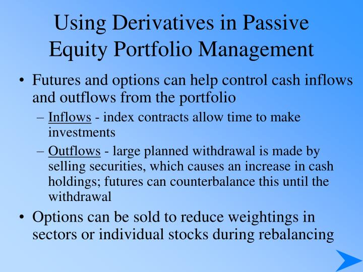 Using Derivatives in Passive
