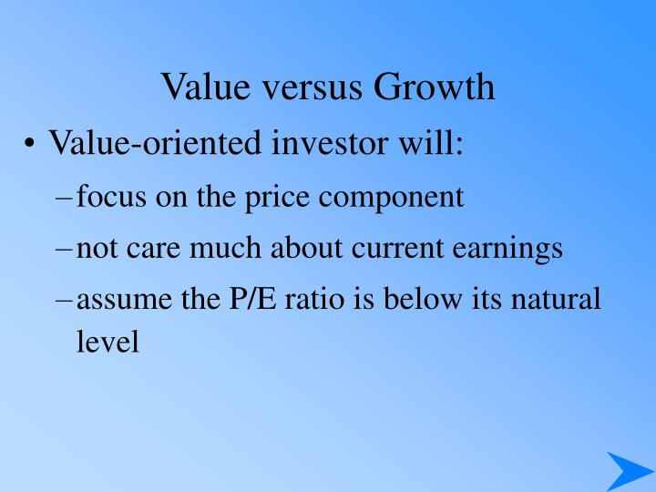 Value versus Growth