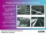 proper contact basin dimensions