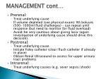 management cont