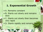 1 exponential growth