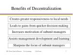 benefits of decentralization