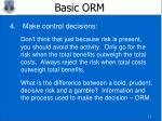 basic orm9