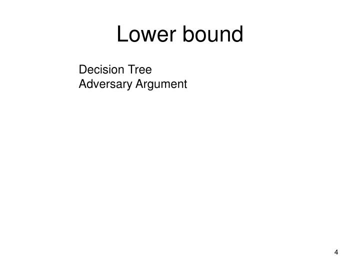 Lower bound