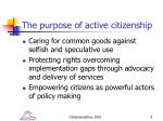 the purpose of active citizenship