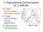 v organizational communication pt 2 26 28