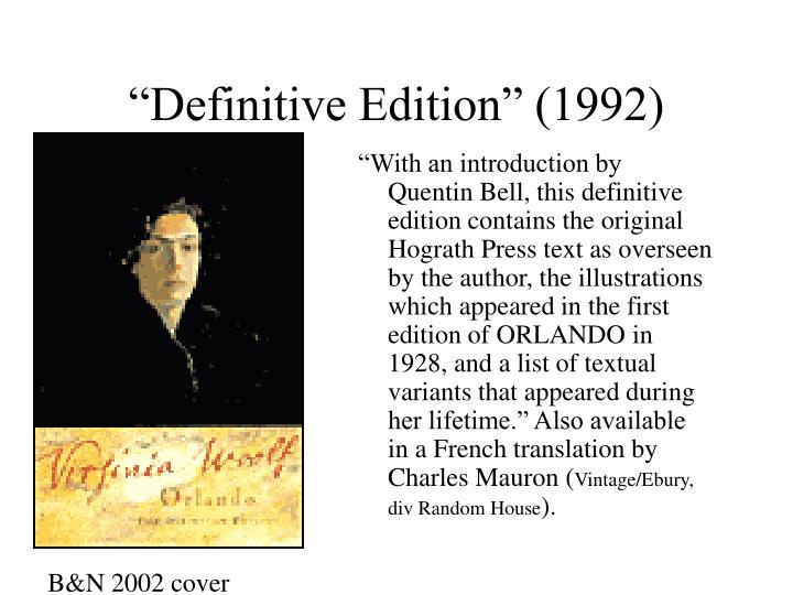 """Definitive Edition"" (1992)"