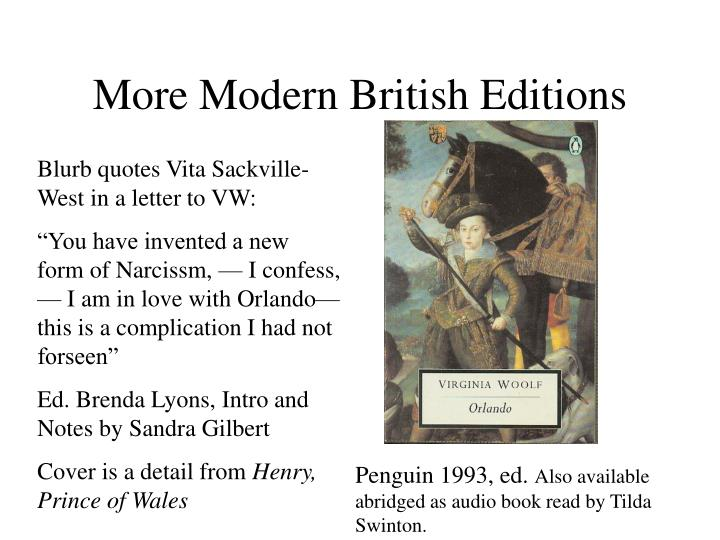 More Modern British Editions