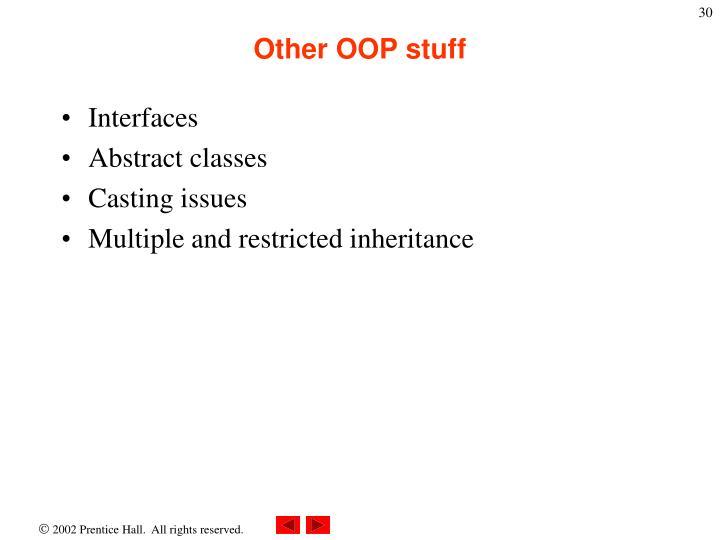 Other OOP stuff