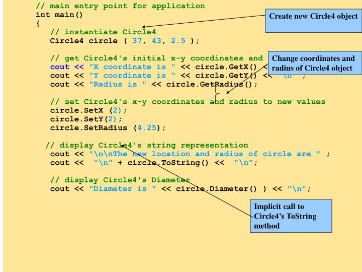 Change coordinates and radius of Circle4 object