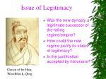 issue of legitimacy