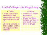 liu bei s respect for zhuge liang