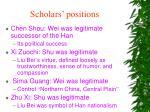 scholars positions