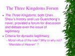 the three kingdoms forum