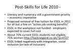 post skills for life 2010