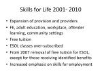 skills for life 2001 2010