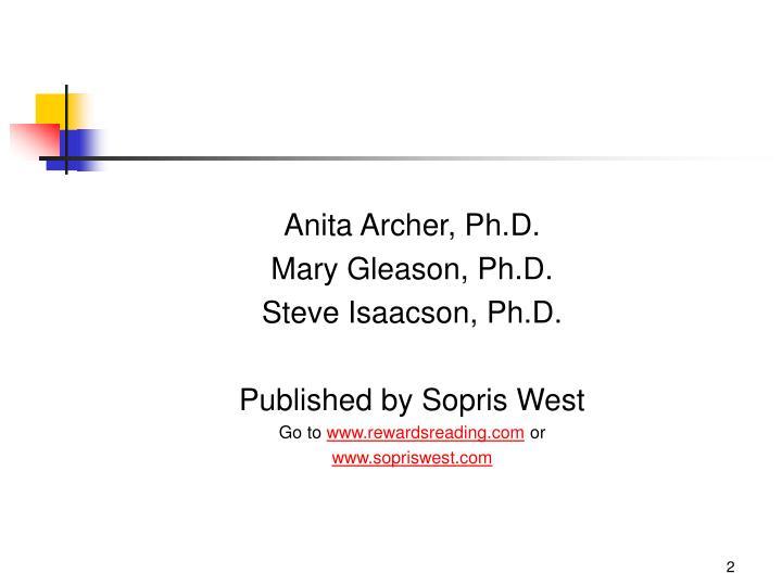 Anita Archer, Ph.D.