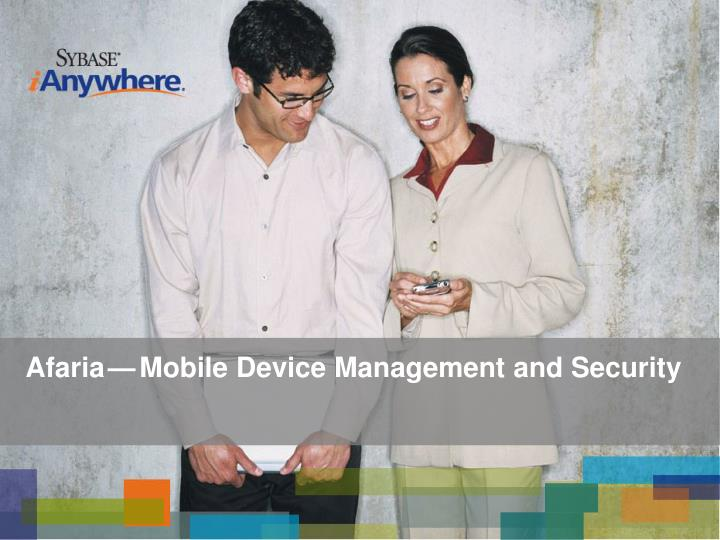 Afaria mobile device management and security