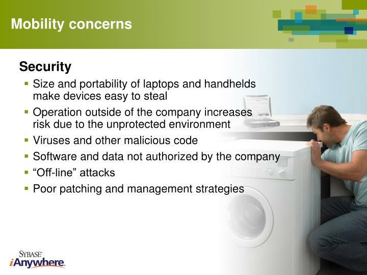 Mobility concerns