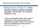 disproportionality prevention