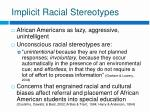 implicit racial stereotypes