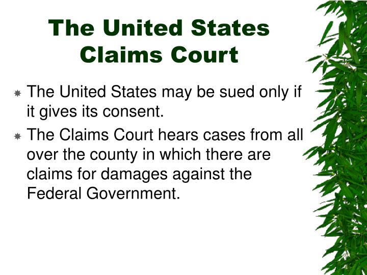 The United States Claims Court