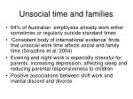 unsocial time and families