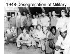 1948 desegregation of military